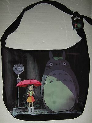 Nwt Studio Ghibli My Neighbor Totoro Rain Bus Stop Scene Japanese Anime Hobo Bag