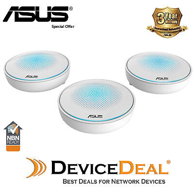 ASUS Lyra AC2200 Tri-Band Whole-Home Wi-Fi System Mesh Network - 3 Pack