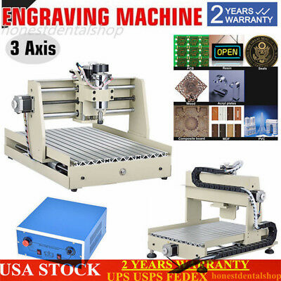 CNC Router Engraver/Engraving Drilling Milling Machine 3040T Wood engraving Cut!