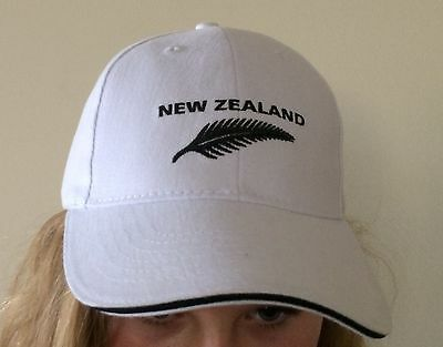 New Zealand  Supporters White New Zealand Cap L-XL