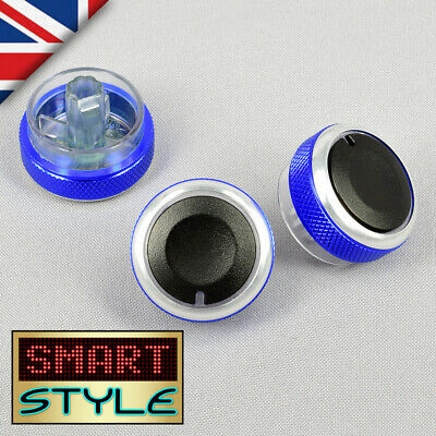 SmartStyle D.BLUE Aluminium Heater Knobs Buttons for Ford Focus/C-Max/S-Max/ST