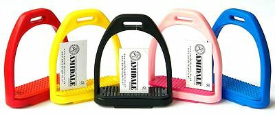 "Polymer Stirrups Horse Riding Beautiful Colors Amidale Sports 4.00"" & 4.75"" Bnwt"