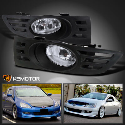 For 2003-2005 Honda Accord 2Dr Coupe Driving Fog Lights+Switch