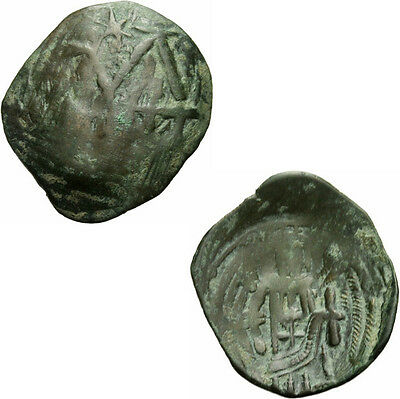 Byzanz Andronicus II Palaeologus Trachy Monogramm Flügel Zepter Sear 2395