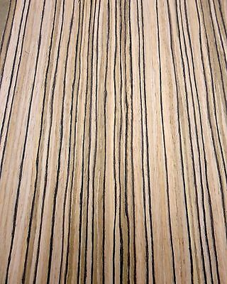 "African Zebrawood composite wood veneer 24"" x 96"" with paper backer (2' x 8')"