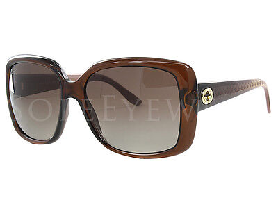 NEW Gucci 3574S W7LLA 3574 W7L/LA Brown Gradient Sunglasses