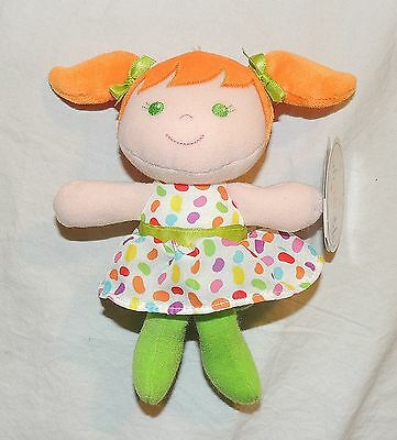 NEW Baby Girl Jelly Bean Dress, Orange Red Hair, Easter Plush Doll, Rattle Toy