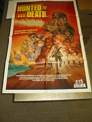 Hunted To Death/orig. U.s. One Sheet Movie Poster (Troma Films)