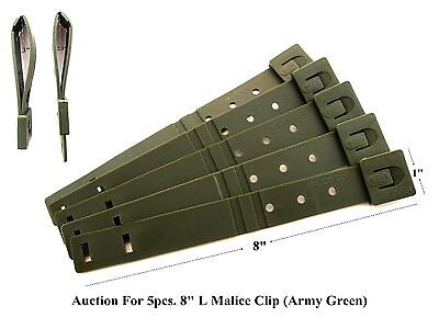 """5 Tactical Tailor-Short 8"""" Army Green MALICE Clips For GERBER, BUCK Knife Pouch!"""