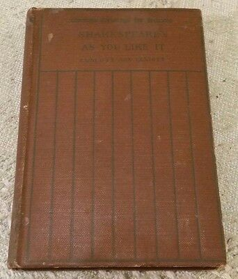 1911 AS YOU LIKE IT by WILLIAM SHAKESPEARE Hard Cover Book