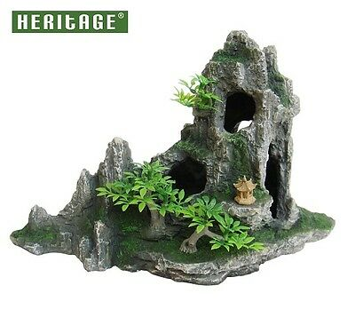 Heritage Hb016 Aquarium Fish Tank Stepped Rock Formation Cave Ornament 27Cm