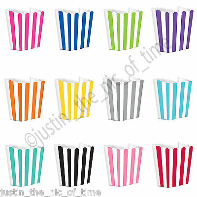 Striped Retro Cinema Popcorn Boxes for Wedding Favours Sweets Candy Pop Corn x5