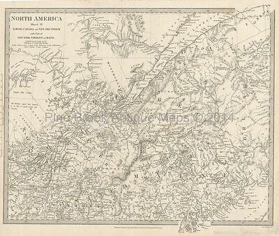 Quebec Canada Antique Map SDUK 1832 Original