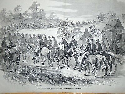 1864 Leslie's Weekly Centerfold March 26 - Kilpatrick and troops flee Richmond