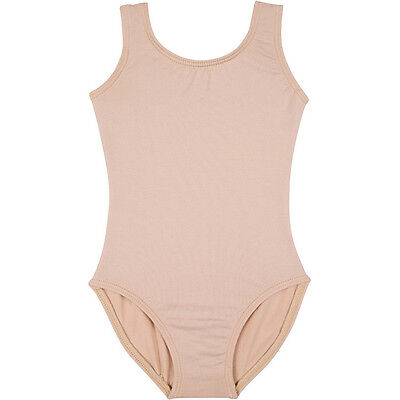 NUDE SKINTONE BEIGE Tank Leotard for Ballet and Gymnastics