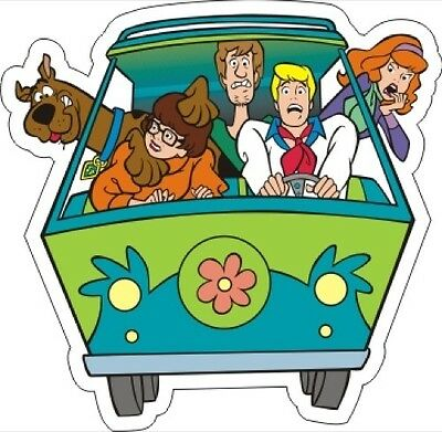 "Scooby Doo Mystery Machine Sticker - 3.5"" x 3.5"""