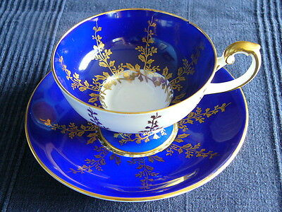 Vintage Aynsley English Bone China Cabinet Cup and Saucer - Gilded