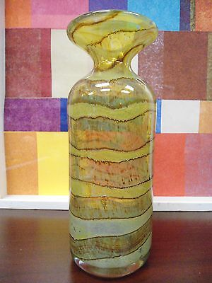 Vintage 1985 Mdina Art Glass Decanter Yellow 8'' By 3'' New