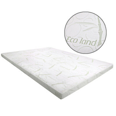 Cool Gel Memory Foam Mattress Topper with BAMBOO Fabric Cover Queen 8CM Bedroom