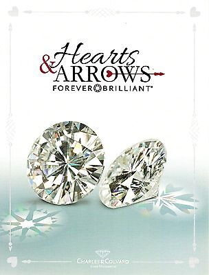Round 6.5mm Heart and Arrow Forever Brilliant Moissanite = 1 CT Dia. w/Cert.