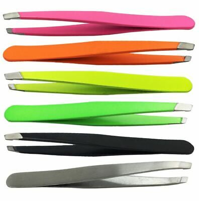 Stainless Steel Tweezers for Hair Eyebrow Plucker Puller Beauty Nail Slanted Tip