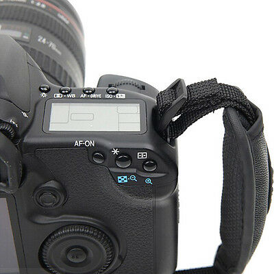 DZ479 Camera Hand Grip Canon EOS Nikon Sony Olympus SLR/DSLR Leather Wrist Strap