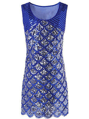 Women's 1920s Style Dresses Deco Sequin Beaded Glam Party Flapper Dress FN1598