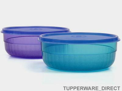 Tupperware Deluxe Bowl - Emerald & Purple - Set of 2 - Free Shipping