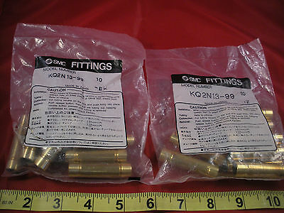 SMC KQ2N13-99 Lot of (18) Fittings Connector Brass Nipple Nib New