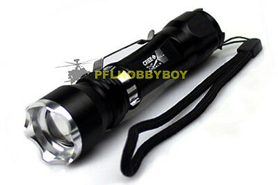 1600 Lumen Zoomable CREE XM-L T6 LED 18650 Flashlight Torch Zoom Lamp Light