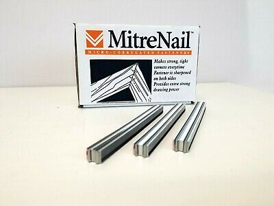 """Miter Nails, Microcorr, Ffsmicro10 Fasteners, 3/8"""" Long, 1 Case, 14,000"""