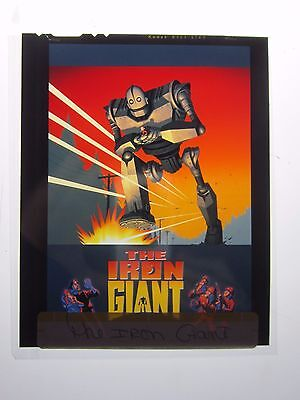 The Iron Giant One Sheet  Movie Key Art Poster Transparency Warner Brothers