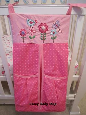 Baby Nappy Stacker Diaper Stacker Nursery New High Quality Storage Pink Flower