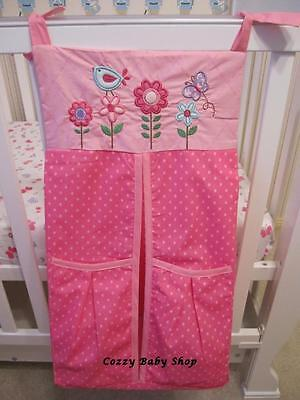 New High Quality Nursery Baby Nappy Stacker Diaper Stacker Nappy Storage - Pink
