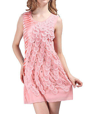 Womens1920s S/M Fit Peacock Embroidery Deco Gatsby Vintage Flapper Dress FN1534