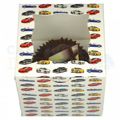 25 x SINGLE PREMIUM CUPCAKE BOXES + DIVIDERS CHEAPEST ON EBAY CHOOSE YOUR COLOUR
