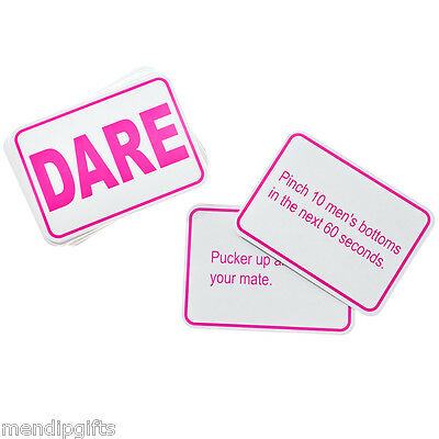 Set 24 Dare Cards Hen Party Games Hen Night Accessories Party Bag Filler Favours