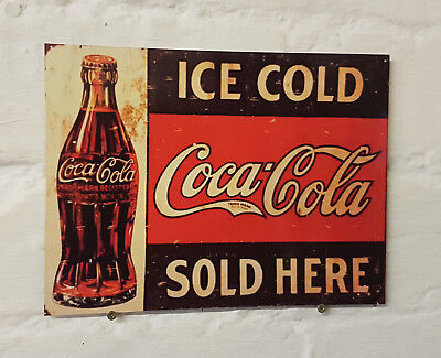 Coca Cola pub bar Sign Retro metal Aluminium Sign vintage beer signs man cave