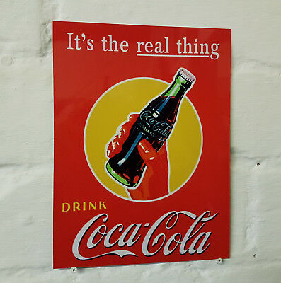 Coca Cola pub bar Sign Retro metal Aluminium vintage coke beer signs man cave