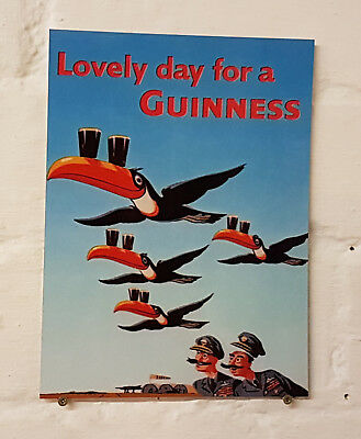 Guinness Retro metal Aluminium Sign vintage bar pub man cave beer signs birds