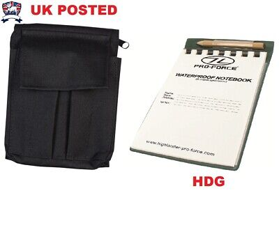 A6 Waterproof Notebook Notepad Pouch Cover Holder Bcb + Pencil Black Sas Police