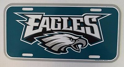 WinCraft Green NFL Philadelphia Eagles Sports Fan License Plate Made In U.S.A.