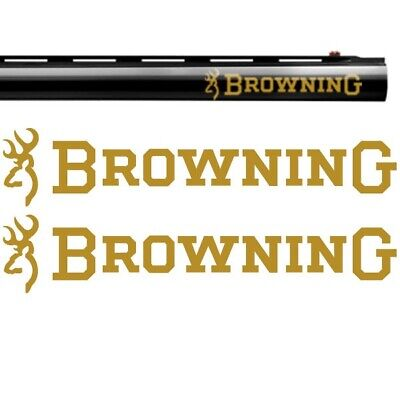 2x BROWNING Vinyl Decal Sticker. 4 sizes and 9 colours to choose from