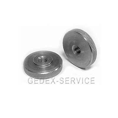 2 Pcs Knurled nut Low Form DIN 467 M6 STAINLESS STEEL M 6