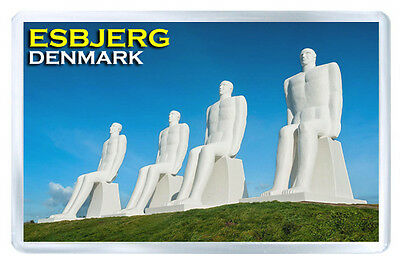 Esbjerg Denmark Man Meets The Sea Fridge Magnet Souvenir Iman Nevera