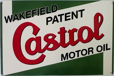 Wakefield Patent Castrol Motor Oil Garage Sign