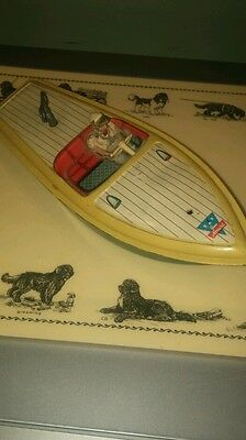 Arnold tin toy wind up boat made in western germany