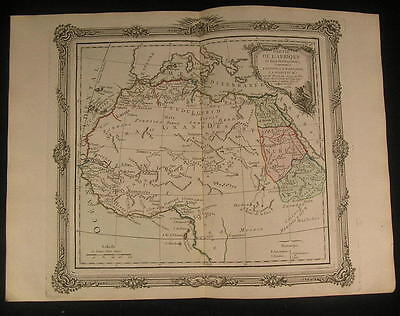 North Africa Abyssinia Sahara Mts. of Moon 1766 antique decorative map