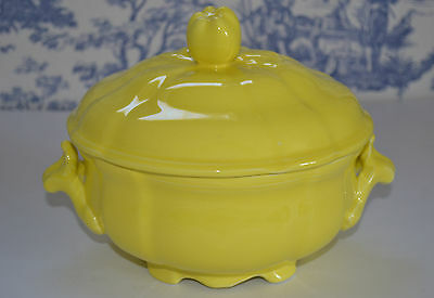 Luneville Faience French Pottery Soup Tureen Louis Xvi Elysee Yellow
