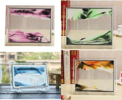 Moving Sand Glass Picture Home Office Table Decor Birthday Xmas Gift  JAFG-65